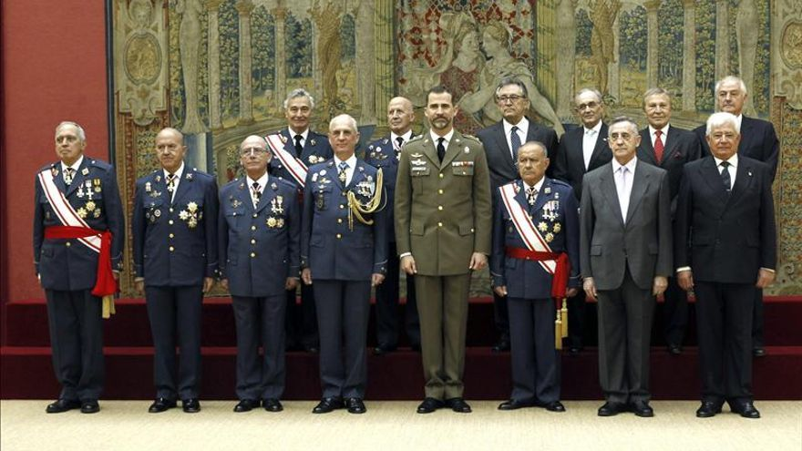 El Príncipe celebra tres audiencias militares en el Palacio de El Pardo