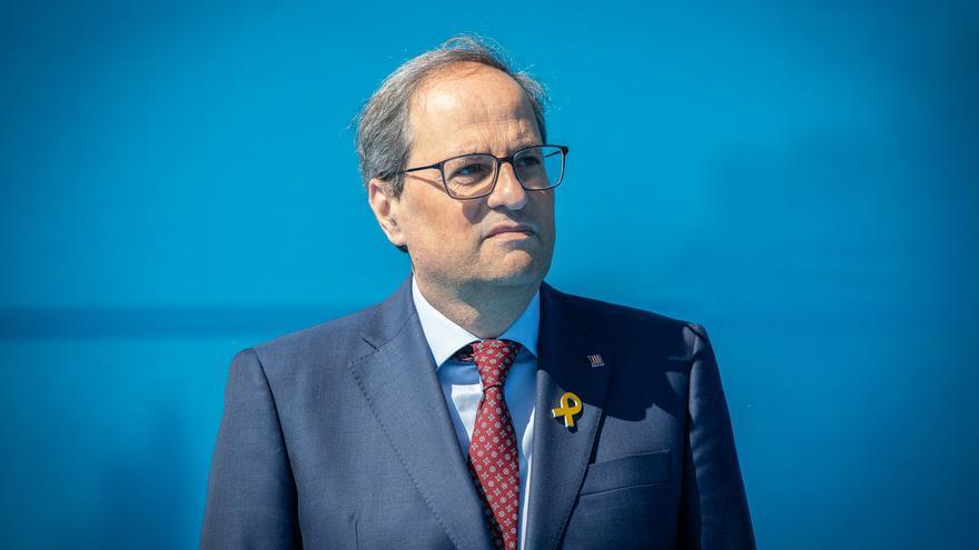 Quim Torra, a juicio por no retirar los lazos amarillos del balcón de la Generalitat