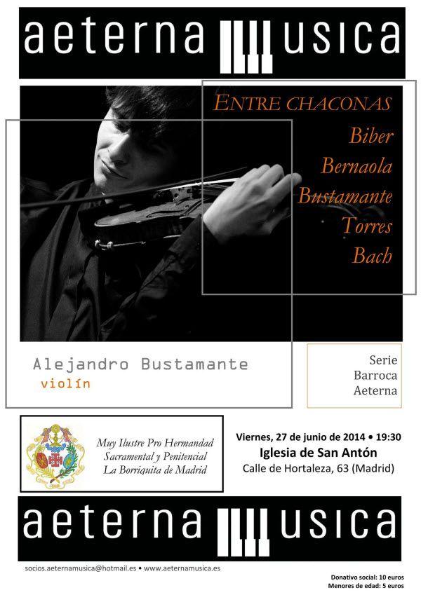 """Cartel del concierto """"Entre chaconas"""", de Alejandro Bustamante"""