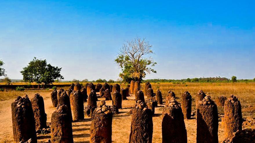 Círculo de piedras de Wassu, uno de los yacimientos arqueológicos del Río Gambia.