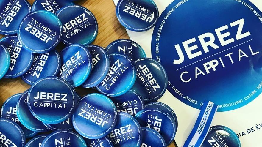 Imagen del kit de la campaña del PP jerezano.