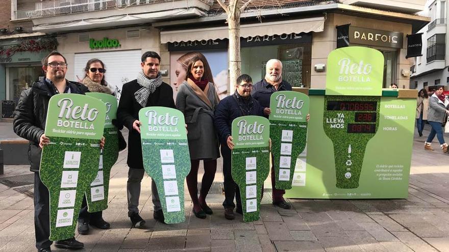 Presentación de la campaña, este miércoles en la calle Cruz Conde.