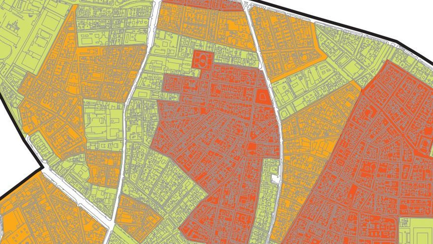 Mapa de las zonas rojas marcadas por la ZPAE en en centro de la capital   AYUNTAMIENTO DE MADRID
