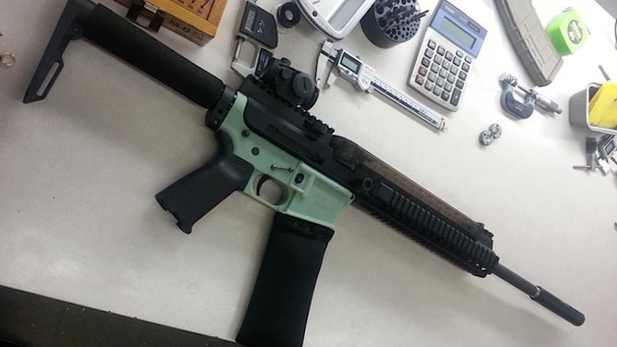 Un fusil AR-15 impreso en 3D