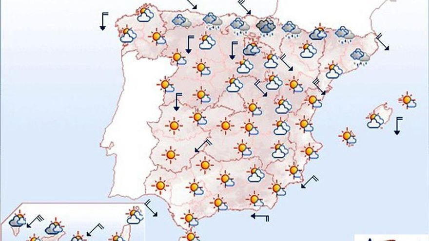 Mañana bajan las temperaturas en el norte y el Levante