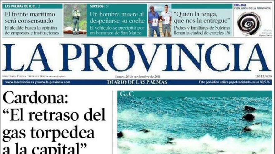 De las portadas del día (28/11/2011) #2