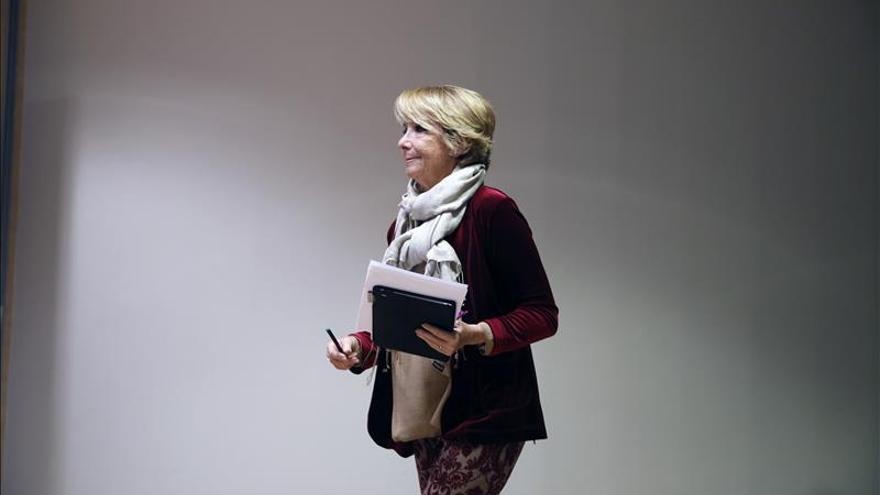 """Aguirre pide a los electores que voten """"pensando en lo mejor para España"""""""
