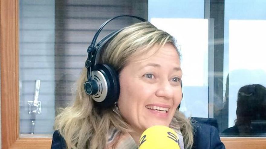 Victoria Rosell en una entrevista en la Cadena Ser (@PodemosCanarias)