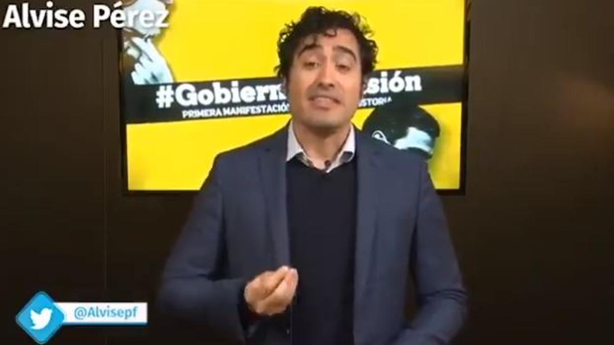 Alvise Pérez, en una intervención en redes