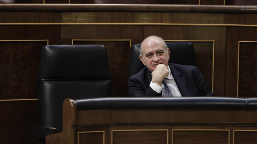El ministro del Interior, Jorge Fernández Díaz, en el Congreso