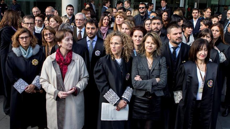 Un 37 % de los jueces de Cataluña secundan la huelga para reclamar más medios