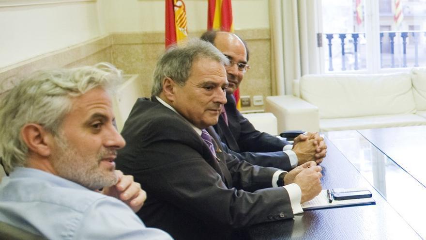 Marcos Benavent y Alfonso Rus en un acto de la Diputación de Valencia