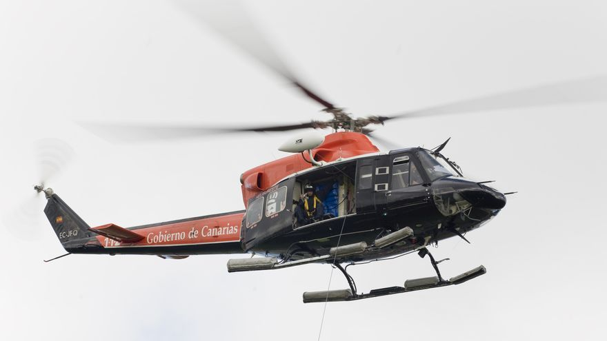 Helicóptero del Grupo de Emergencias y Seguridad (GES), en una imagen de archivo