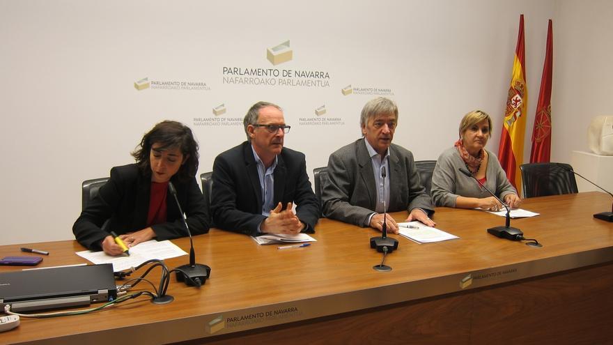 Acuerdo del cuatripartito para sacar adelante los Presupuestos Generales de Navarra para 2017