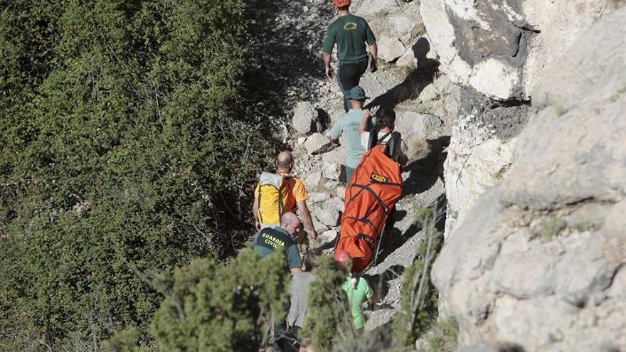 Rescatan el cuerpo de un joven ahogado en un barranco en Aliaga (Teruel)