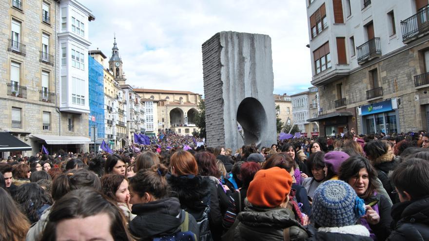 Concentración feminista en Vitoria por el 8 de marzo