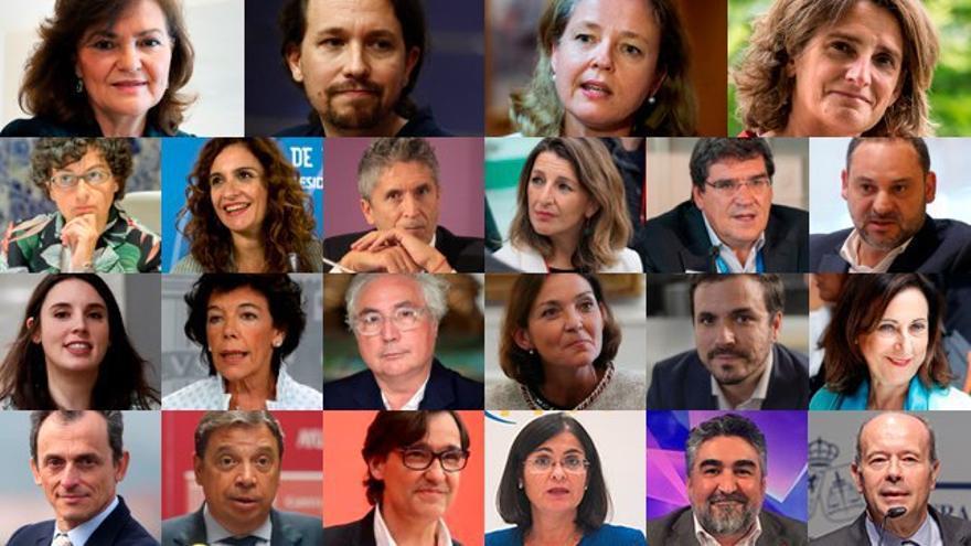 Los ministros y ministras del nuevo Gobierno progresista