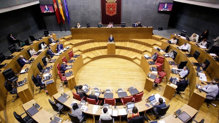 El Parlamento de Navarra quiere que la Policía Foral siga realizando labores de vigilancia en el edificio