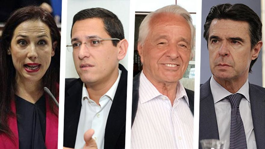 Patricia Hernández, Ángel Llanos, José Carlos Mauricio y José Manuel Soria