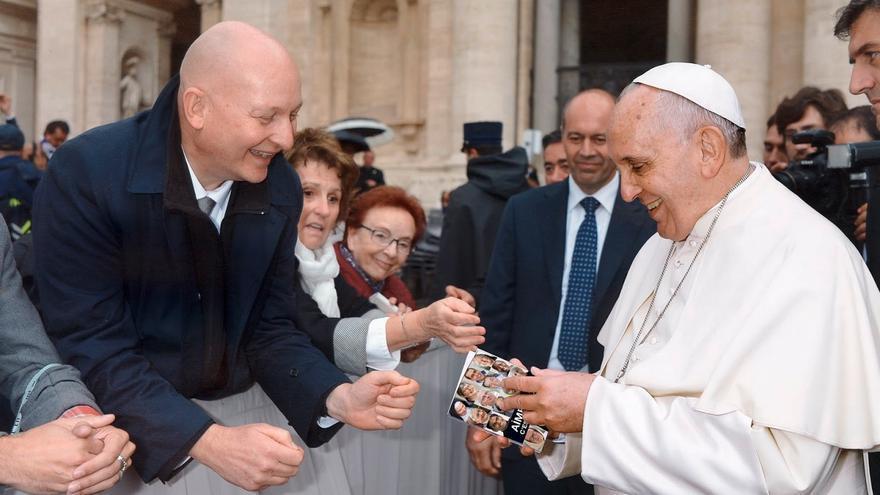 Daniel Pittet, con el Papa