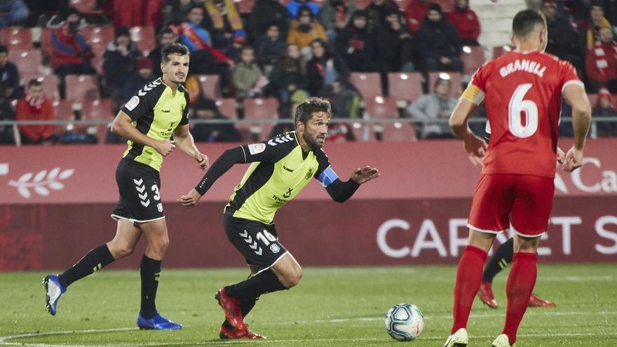 Aitor Sanz durante el Girona-Tenerife disputado en Montilivi.