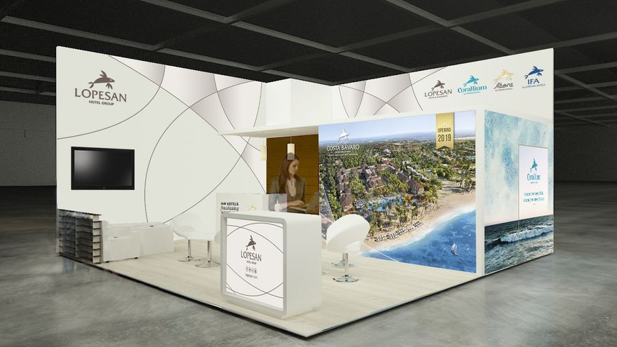 Stand de Lopesan en la World Travel Market 2018.