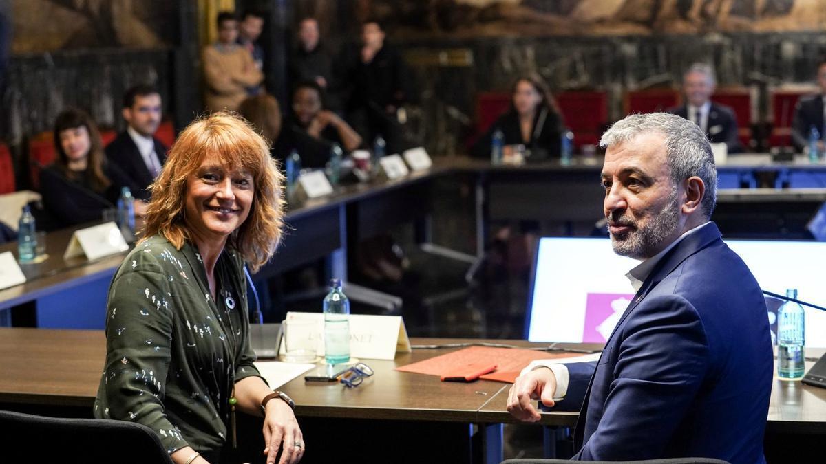 Laia Bonet y Jaume Collboni, en una imagen de archivo