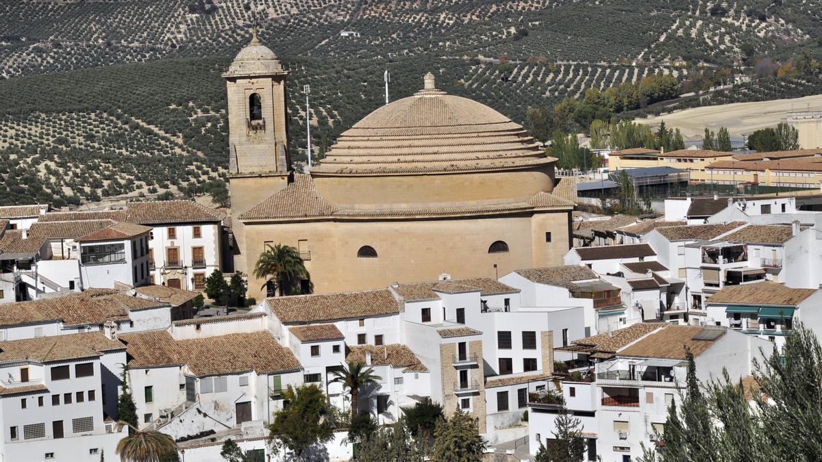 Vista de la localidad granadina de Montefrío.