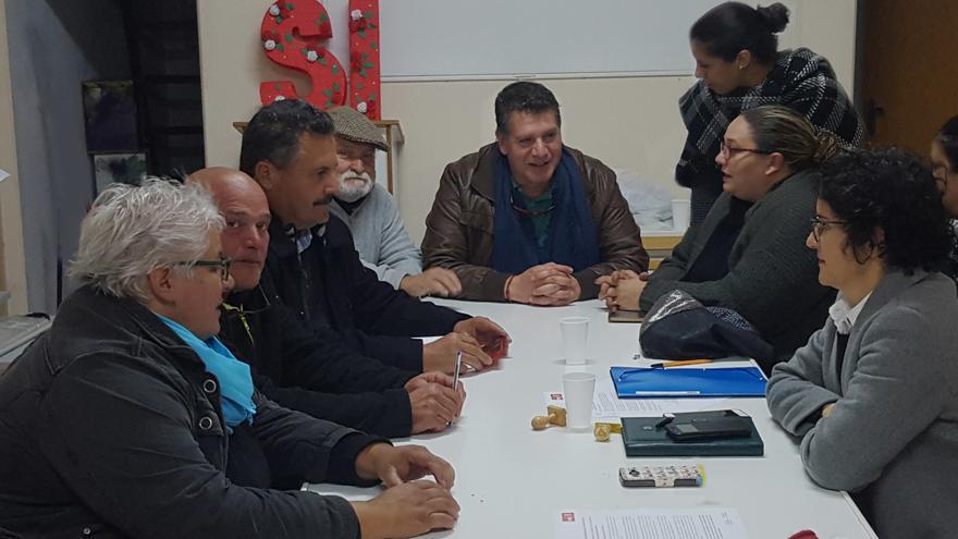 Imagen de la nueva Ejecutiva del PSOE en El Paso.