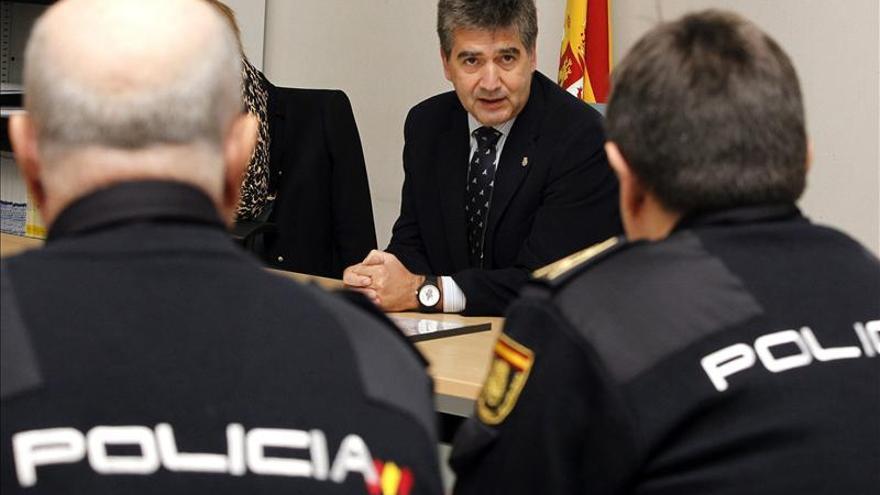 El director general de la Policía, en una reunión con mandos policiales.