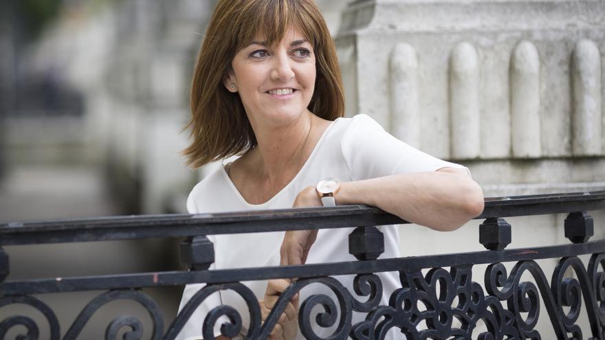 La candidata del PSE a lehendakari y líder del partido, Idoia Mendia,