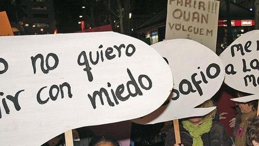 Una protesta contra la violencia machista.