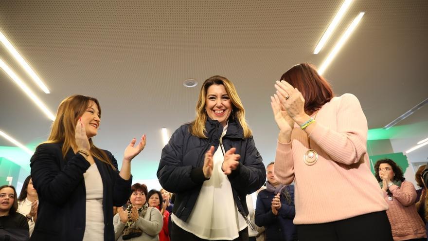 """Susana Díaz envía un """"cariño enorme"""" a la familia de Julen y destaca el """"trabajo intenso"""" para su rescate"""