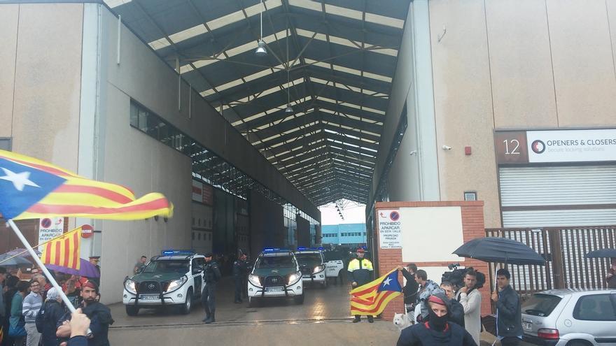 La Guardia Civil requisa las planchas para confeccionar la propaganda del referéndum