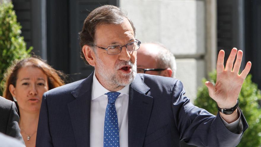 Mariano Rajoy, a su llegada al Congreso de los Diputados