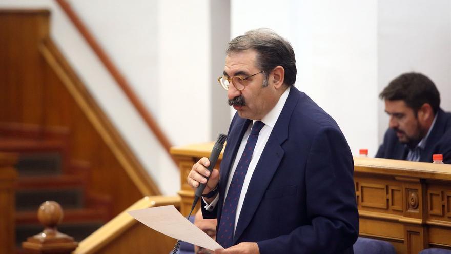 Jesús Fernández, consejero de Sanidad, hoy, en las Cortes regionales