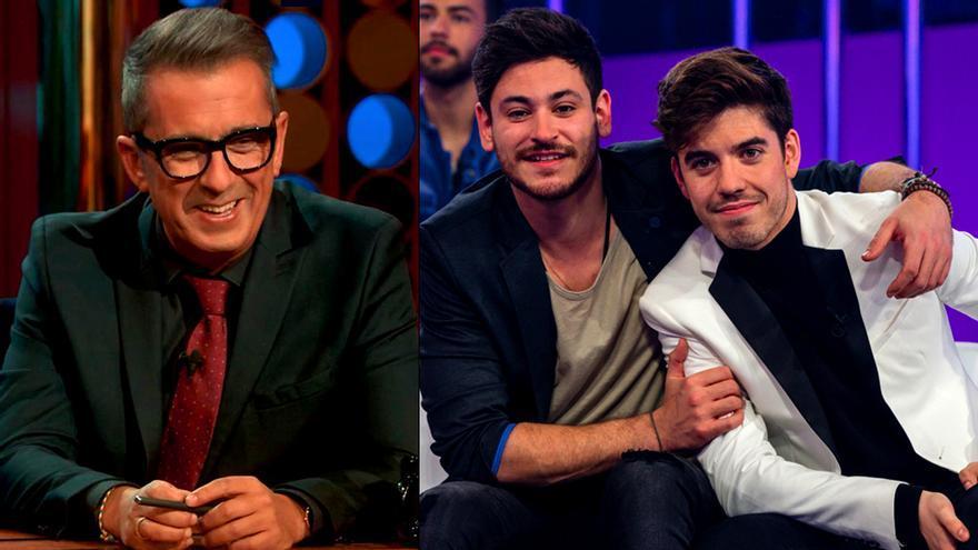 Buenafuente se suma a la moda OT con la entrevista en plató a Roi y Cepeda