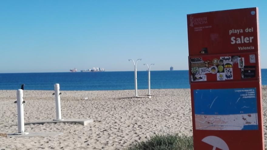 La playa de El Saler, en València