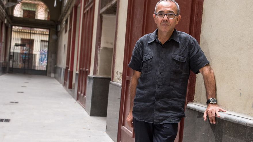 Joan Coscubiela, número 3 de Catalunya Sí que es Pot en un momento de la entrevista / SANDRA LÁZARO