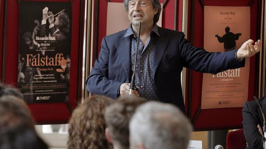 Directores de orquesta de toda España homenajean a Riccardo Muti en Oviedo