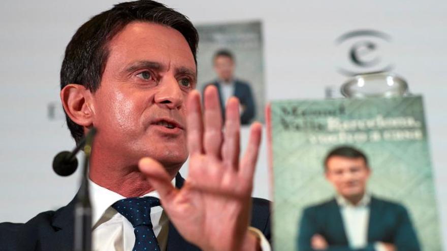 Manuel Valls, en la presentación de su libro 'Barcelona, vuelvo a casa'