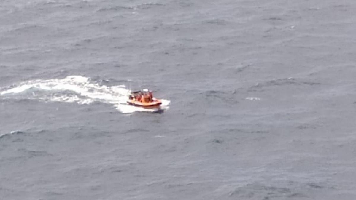 Embarcación que participa en el operativo de búsqueda.