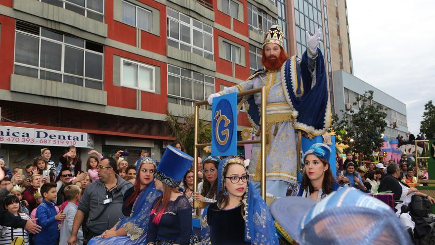 Cabalgata de Reyes Magos en Las Palmas de Gran Canaria. (Alejandro Ramos).