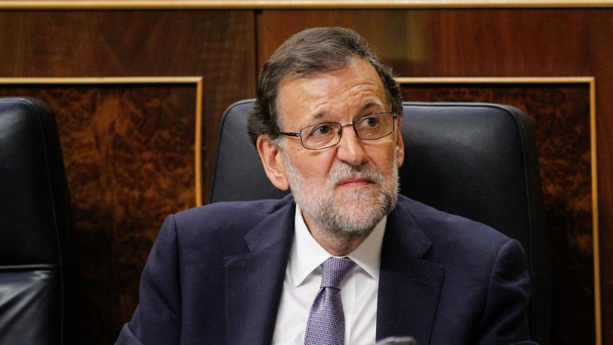 El presidente en funciones, Mariano Rajoy, en la sesión de investidura del 31 de agosto.