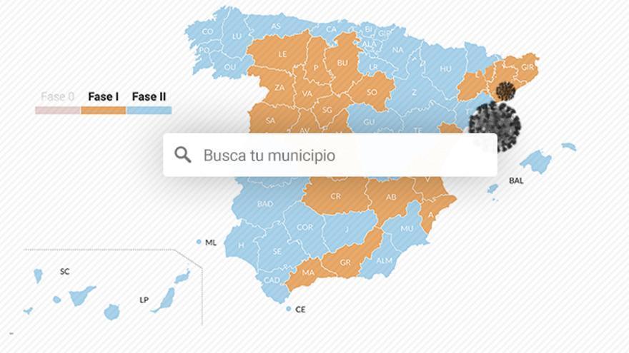 Buscador municipios fase 1 fase 2