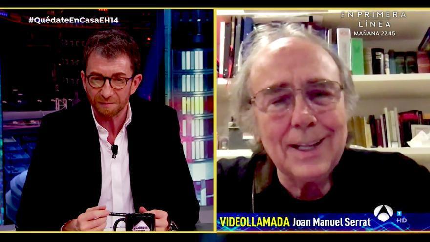 Joan Manuel Serrat, por videollamada con 'El Hormiguero'