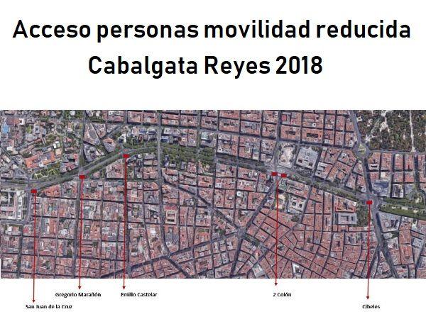 Plano con los puntos de acceso para personas con problemas de movilidad