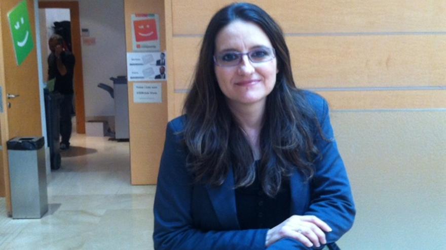 Mònica Oltra, en las Corts Valencianes.
