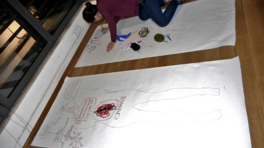 Imagen de uno de los talleres del proceso de elaboración de Fem Públic