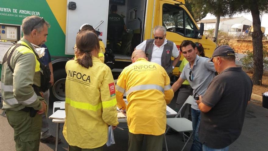 Desactivado el nivel 1 de emergencias en el incendio de Moguer y activado en el de Nerva